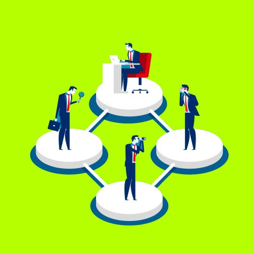 Business team and different styles professions. Concept business vector,  Teamwork, Working, Office collection.